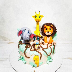 Torta Animales Selva (para niño)